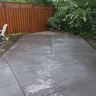 concrete backyard patio