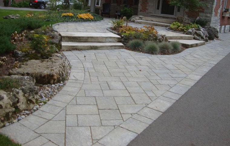 Interlocking Paver Front Entrance Designs Mississsauga On Markstone Landscaping
